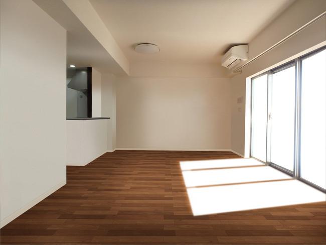 居住中のお部屋の家具を消した「空室イメージ画像」