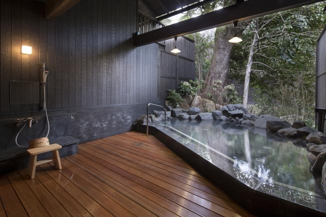 貸切個室露天風呂で贅沢気分