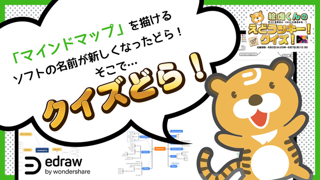 ▲ ワンダーシェアー エドラ製品のイメージキャラクター絵虎(えどら)くん
