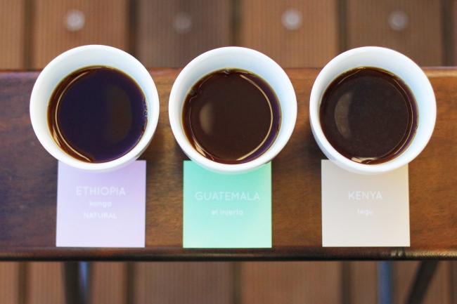 季節ごとに新しいコーヒーに変わるラインナップ。  今はこの3種類。