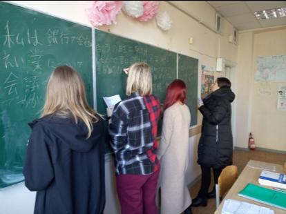 日本語学科の授業風景