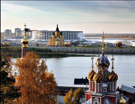 ロシア正教の寺院が市内の各所に点在。ニジニ・ノヴゴロドの原風景を構成。