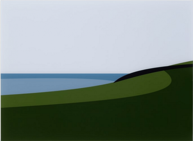 ジュリアン・オピー「Lantivet Coast」デジタルプリント 2017年