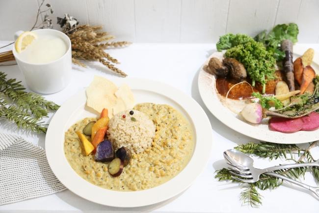 農家直送のオーガニック食材を使ったカレー&スープランチ