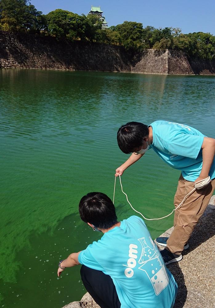大阪城トライアスロン大会公式サポーターとして大阪バイオメディカル専門学校がスイムコースの水質調査を実施!
