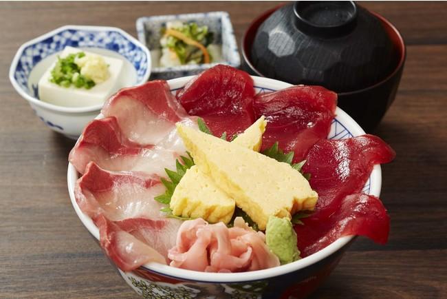 焼津ミナミマグロと鰤の二色丼   950円(税込)