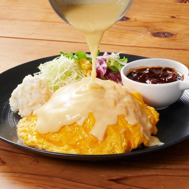 とろとろ玉子の チーズオムライス (ワンドリンク付き) 1,680円