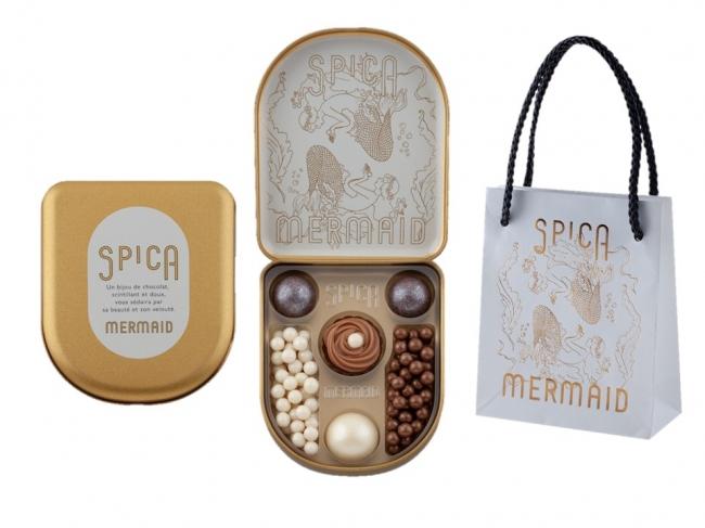マーメイド700円(チョコレート 4個入、パールパフチョコレート10g入×2種)専用バッグ入