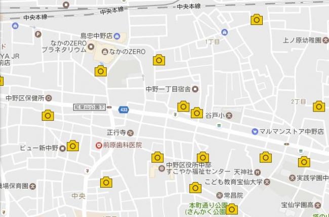 公園マップ 一部