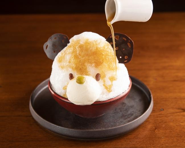 TANGOオリジナルしろくま~ほうじ茶シロップ添え~