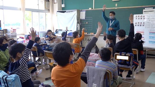 ▲VRの授業は楽しかったか?の問いに、多くの児童が楽しかったと答えました。