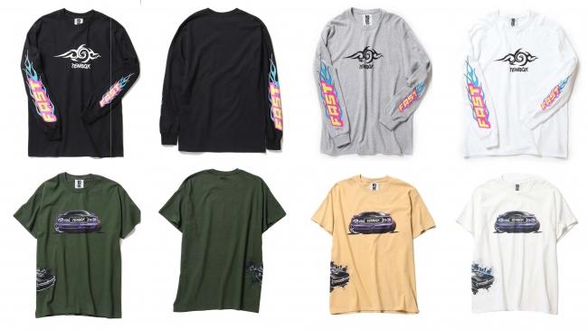 10匣(TENBOX) スペシャルコラボレーションアイテム Tシャツ:11,800円 ロンT:14,800円