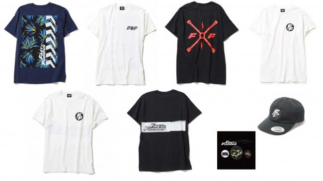 Tシャツ:各6,000円 キャップ:6,500円 缶バッチ:1,500円