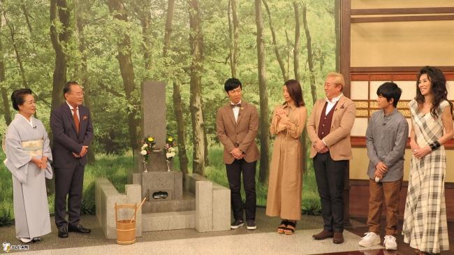 (左から)篠田弥寿子、前田吟、東貴博、眞鍋かをり、ガダルカナル・タカ、鈴木福、萬田久子