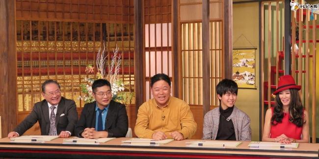 (左から)前田吟、松尾諭、伊集院光、鈴木福、萬田久子