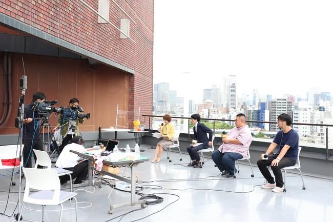 テレビ大阪本社屋上で開催された改編会見