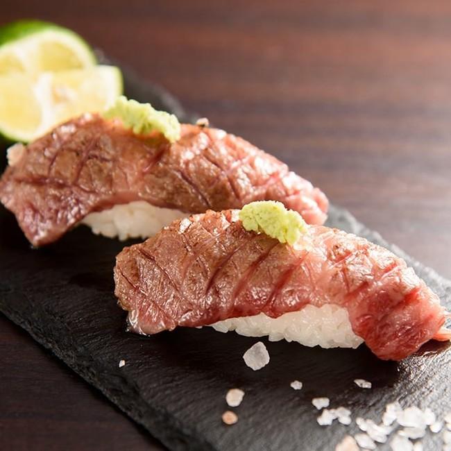 近江牛炙り寿司専門店 「近江牛炙り寿司赤身」