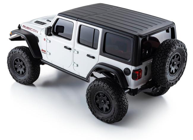 """完全済塗装ボディは、まるで高級ミニカーの様でもある。また、ボディの肉厚もあえて厚みをもたせて、耐クラッシュ性にも配慮したつくりとなっている。Jeep(R)に装着される、特に優れた4×4走破性を誇る証の""""TRAIL RATED(R)""""バッジも左サイドに確認できる。"""