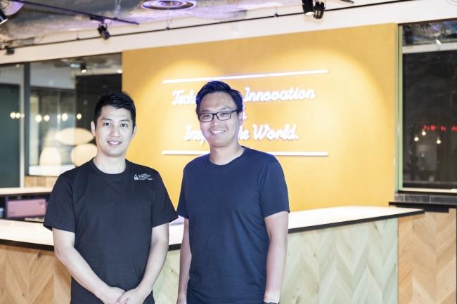 <左:GAテクノロジーズ 樋口、右:デジタルベースキャピタル 桜井氏>