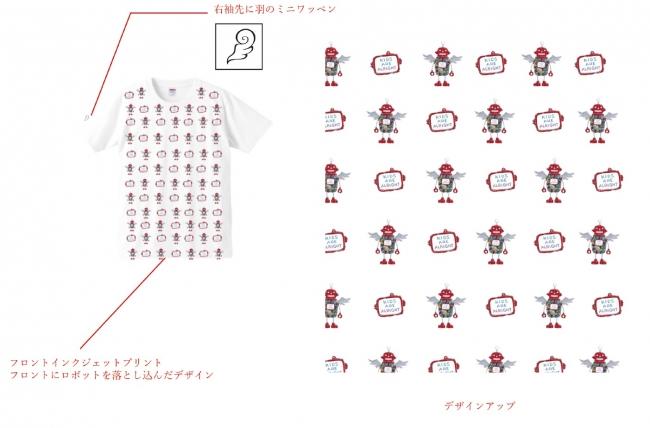 Tシャツ/ロボ総柄