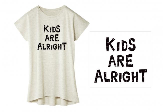 Tシャツ:KIDS ARE ALRIGHT/ホワイト