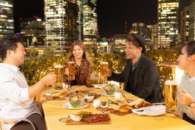 「アーバンビアテラス 2020」イメージ ※ テーブルレイアウト、お料理の盛り付けは実際と異なります
