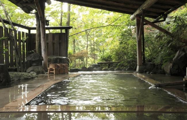 【1位:鳴子温泉郷 極上の貸切露天風呂 旅館大沼】露天風呂