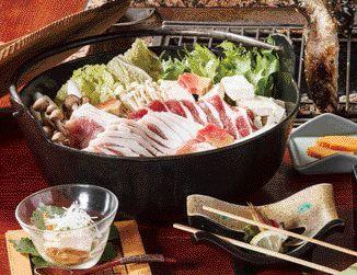 【3位:白峰温泉 ホテル八鵬】しし鍋