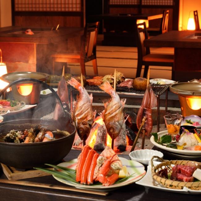 【3位:湯野浜温泉 ホテル満光園】囲炉裏料理