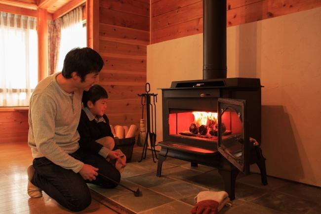 3位 穂高温泉郷 ホテルアンビエント安曇野コテージ 暖炉付きコテージ