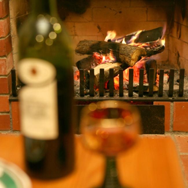 2位 中札内農村休暇村フェーリエンドルフ リビングの暖炉