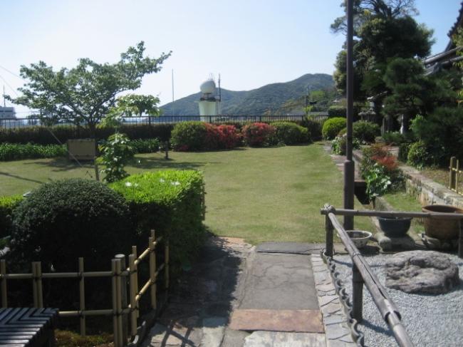 【3位:宿坊対馬西山寺】庭園からの風景