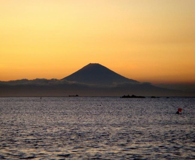 【2位:休暇村 館山】富士山と夕日