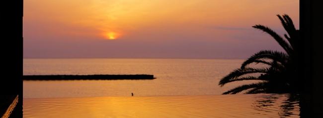 【1位:大江戸温泉物語 土肥温泉 土肥マリンホテル】大浴場からの夕日