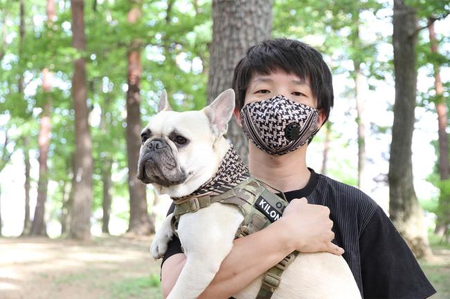 愛犬とお揃いコーディネートでマスクを楽しむ事も出来ます。