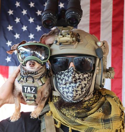 Kilonineのrペット用シュマグとマスクをお揃いでお使い頂けます