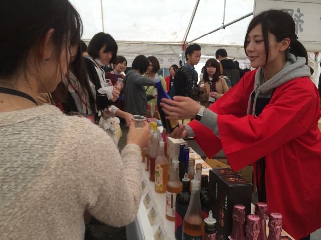 多種多様な梅酒の数々を飲み比べ