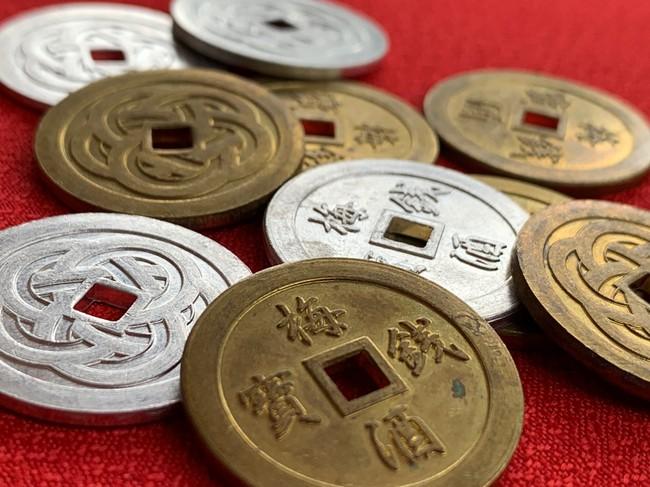 梅酒まつり専用のコイン「梅銭」