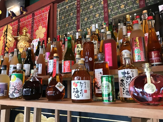 日本全国の梅酒の数々(梅酒奉納式の様子)