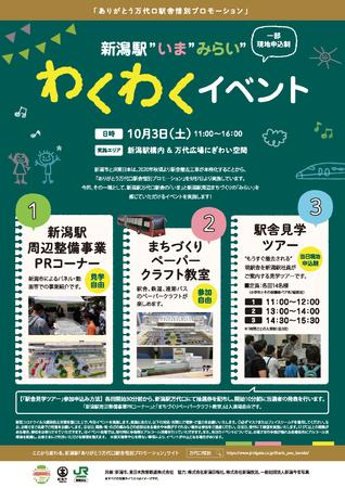 """「新潟駅""""いま""""みらい""""わくわくイベント」ポスター"""