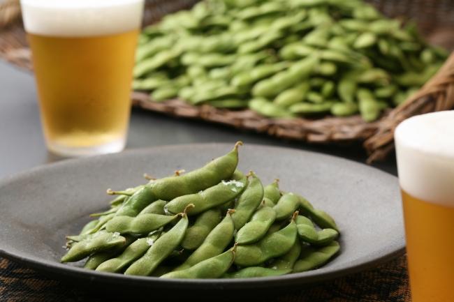くろさき茶豆とビール