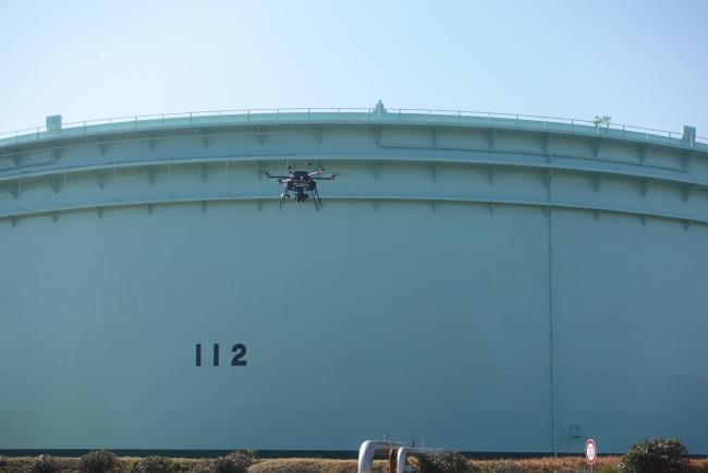 JXTGエネルギー根岸製油所のおけるプラントでのドローン活用(2019年2月)