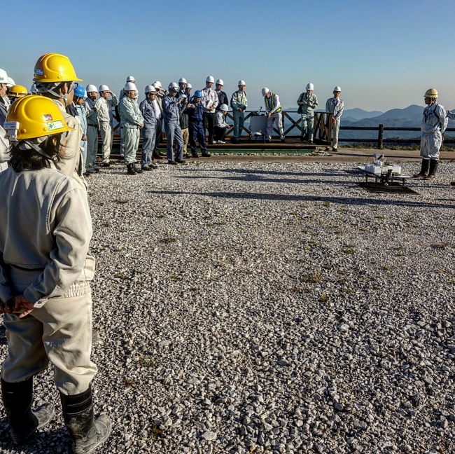 住友大阪セメント秋芳鉱山のおける鉱山でのドローン活用(2018年11月)