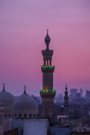 エジプト カイロのモスクのミナレット(尖塔)