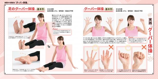 グーパー体操基本形、足のグーパー体操基本形