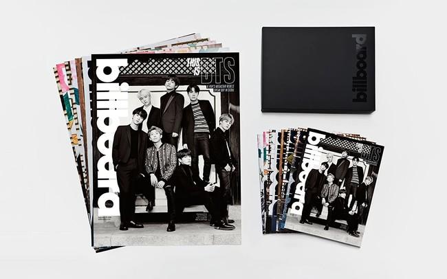 豪華なBOX仕様の中にはグループバージョン1パターンのカバーと、各メンバーバージョンの7パターンのカバー、計8パターンの雑誌とプレミアム特大ポスターが入っている