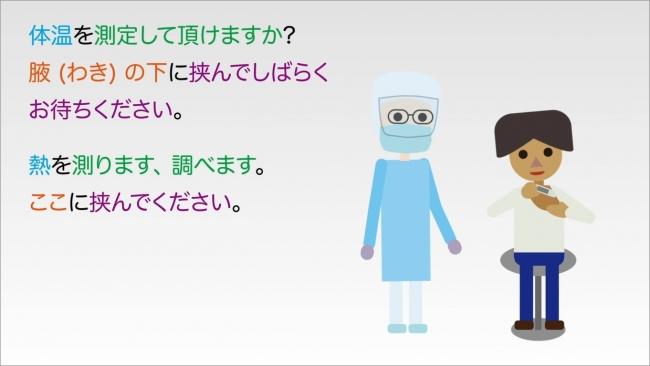 動画イメージ(体温測定)
