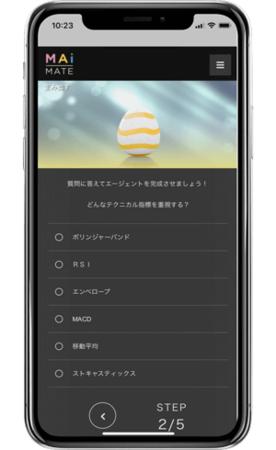 AI作成(テクニカル指標選択)画面イメージ
