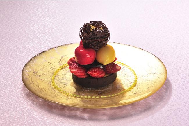 メインデザート「タルトショコラ フランスからのインスピレーション」
