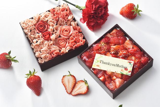 グランドプリンスホテル新高輪 2段スイーツボックス「カーネーションケーキ」